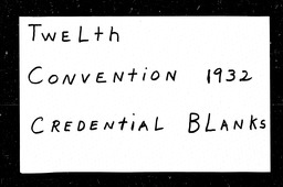 Conventions, twelfth YWCA of the U.S.A. records, Record Group 11. Microfilmed headquarters files