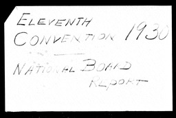 Conventions, eleventh YWCA of the U.S.A. records, Record Group 11. Microfilmed central files