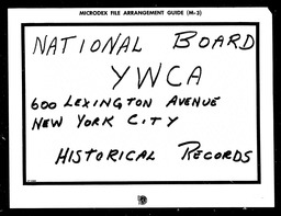 Conventions, tenth YWCA of the U.S.A. records, Record Group 11. Microfilmed headquarters files