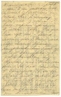 Correspondence from Marjory Gane (class of 1901) to her mother, Sarah Jones and father, Thomas Gane