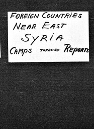 Syria YWCA of the U.S.A. records, Record Group 11. Microfilmed central files