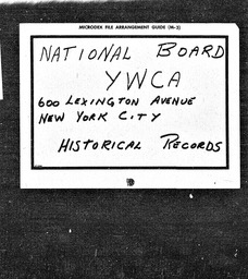 India YWCA of the U.S.A. records, Record Group 11. Microfilmed central files