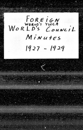 World's YWCA YWCA of the U.S.A. records, Record Group 11. Microfilmed central files