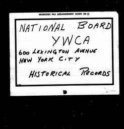 Foreign Division YWCA of the U.S.A. records, Record Group 11. Microfilmed central files