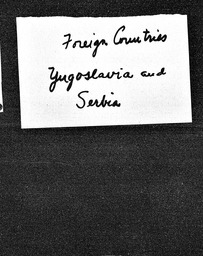 Yugoslavia and Serbia YWCA of the U.S.A. records, Record Group 11. Microfilmed central files