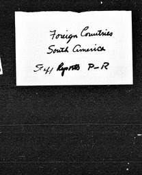 South America YWCA of the U.S.A. records, Record Group 11. Microfilmed central files