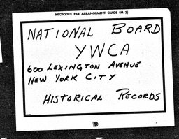 South America YWCA of the U.S.A. records, Record Group 11. Microfilmed headquarters files
