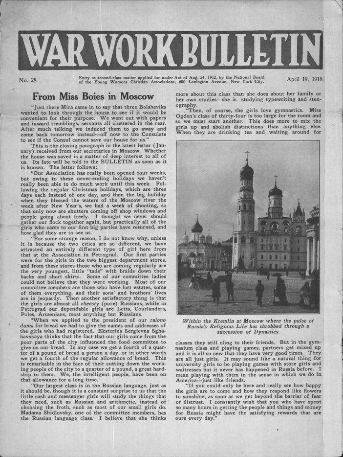 War Work Bulletin