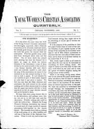 Young Women's Christian Association quarterly