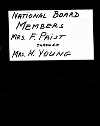 National Board members YWCA of the U.S.A. records, Record Group 11. Microfilmed headquarters files