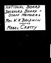 National Board members YWCA of the U.S.A. records, Record Group 11. Microfilmed central files