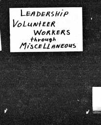 Leadership YWCA of the U.S.A. records, Record Group 11. Microfilmed central files