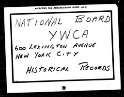 Labor YWCA of the U.S.A. records, Record Group 11. Microfilmed central files