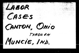 Labor cases YWCA of the U.S.A. records, Record Group 11. Microfilmed headquarters files