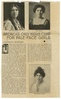"""America's Only Indian Camp for Pale-Face Girls"""