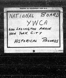 Industrial and Insurance YWCA of the U.S.A. records, Record Group 11. Microfilmed headquarters files