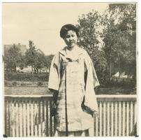 Tei Ninomiya (Class of 1910) at Miss Maltby's boarding house