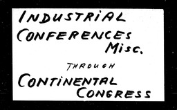 Industrial conferences YWCA of the U.S.A. records, Record Group 11. Microfilmed central files