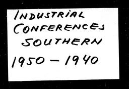 Industrial conferences YWCA of the U.S.A. records, Record Group 11. Microfilmed headquarters files