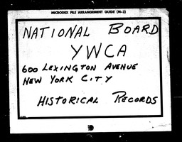 Industrial YWCA of the U.S.A. records, Record Group 11. Microfilmed headquarters files