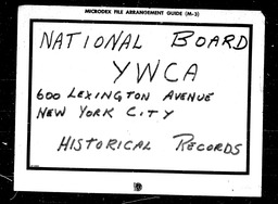 International institutes YWCA of the U.S.A. records, Record Group 11. Microfilmed central files