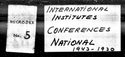 International institutes YWCA of the U.S.A. records, Record Group 11. Microfilmed headquarters files
