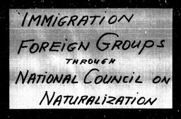 Immigration YWCA of the U.S.A. records, Record Group 11. Microfilmed headquarters files