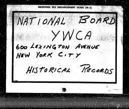 Housing YWCA of the U.S.A. records, Record Group 11. Microfilmed headquarters files
