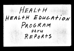 Health education YWCA of the U.S.A. records, Record Group 11. Microfilmed central files