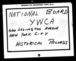 Health YWCA of the U.S.A. records, Record Group 11. Microfilmed central files