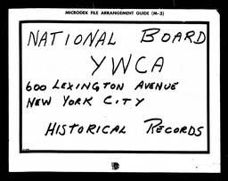 Girl Reserve YWCA of the U.S.A. records, Record Group 11. Microfilmed headquarters files