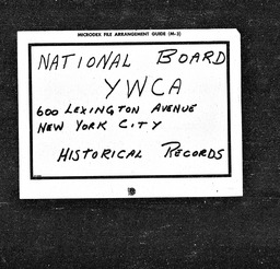 Girl Reserve conferences YWCA of the U.S.A. records, Record Group 11. Microfilmed central files