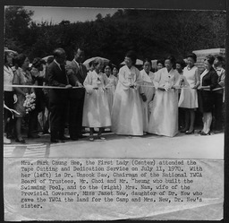 Korea: Dedication service YWCA of the U.S.A. photographic records