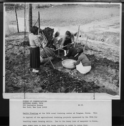 Korea: Rural work YWCA of the U.S.A. photographic records