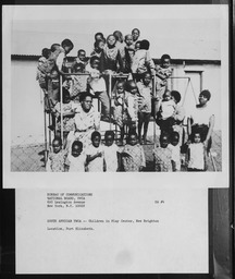 South Africa: Children YWCA of the U.S.A. photographic records