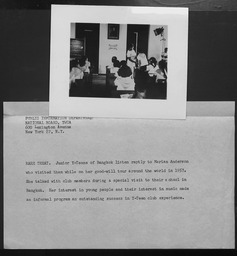 Thailand: Miscellaneous YWCA of the U.S.A. photographic records