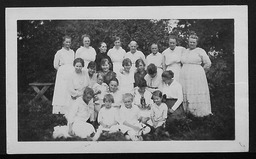 Eight Week Clubs YWCA of the U.S.A. photographic records
