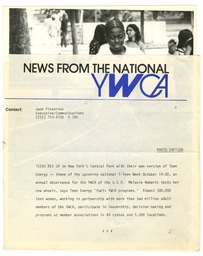 National programs: National Y-Teen Week YWCA of the U.S.A. photographic records