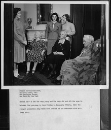 Community association programs: Service projects YWCA of the U.S.A. photographic records