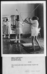 Sports: Golf YWCA of the U.S.A. photographic records