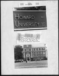 Howard University scrapbook YWCA of the U.S.A. photographic records
