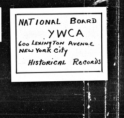 Alabama YWCA of the U.S.A. records, Record Group 11. Microfilmed central files