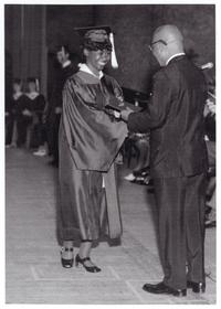 Loretta Ross at her graduation from Sam Houston High School