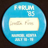 World Conference on Women in Nairobi button
