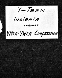 Y-Teen YWCA of the U.S.A. records, Record Group 11. Microfilmed central files