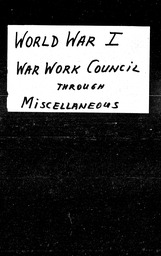 World War I YWCA of the U.S.A. records, Record Group 11. Microfilmed headquarters files