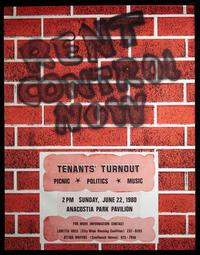 """Rent Control Now"" poster"