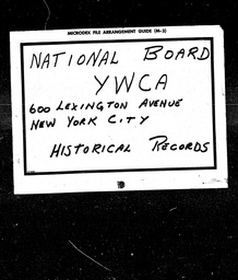 World War I YWCA of the U.S.A. records, Record Group 11. Microfilmed central files