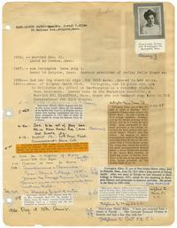 Page from Hart-Lester Harris (Class of 1913) records book