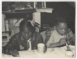 Two children at the People's Free Breakfast Program